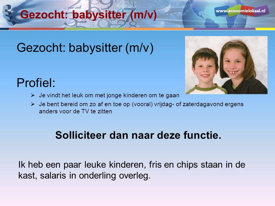 Gezocht: babysitter (m/v)