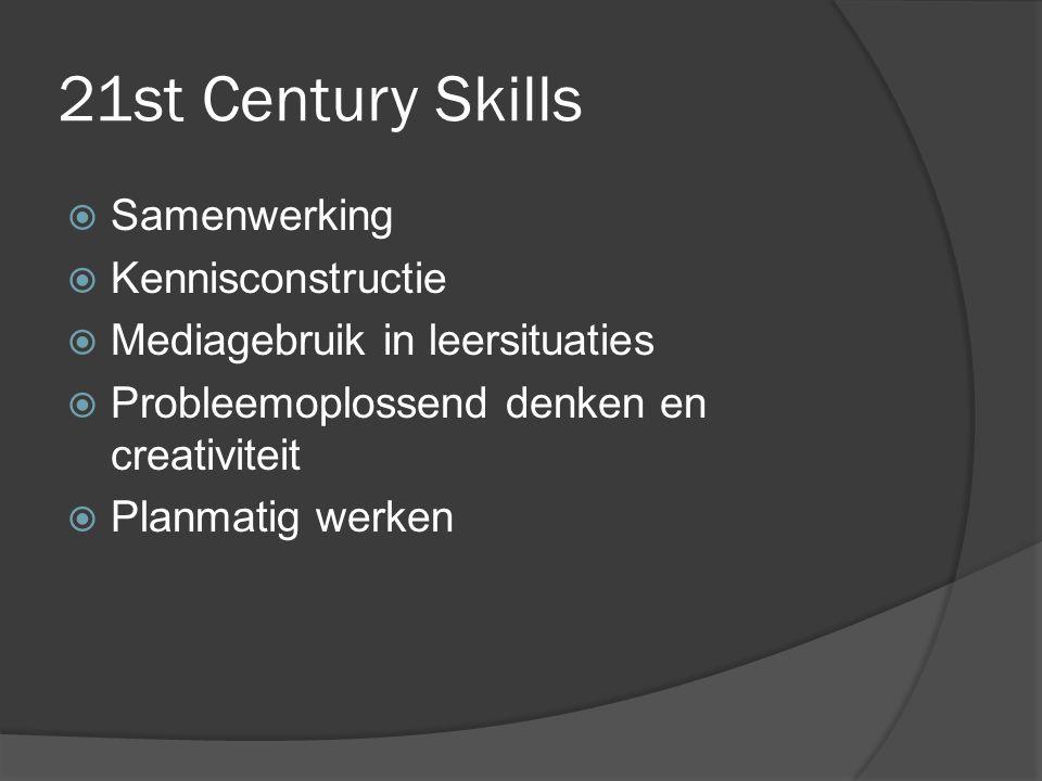 21st Century Skills Samenwerking Kennisconstructie