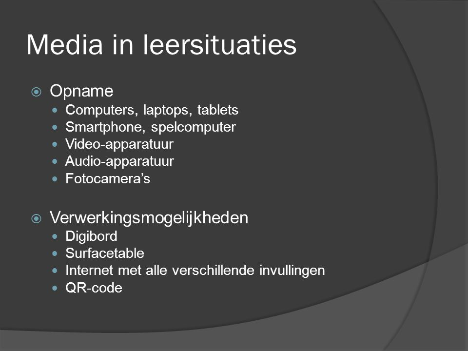 Media in leersituaties