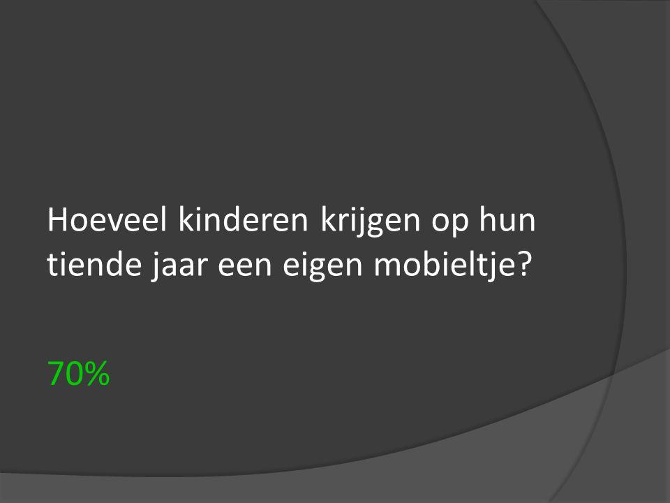 Hoeveel kinderen krijgen op hun tiende jaar een eigen mobieltje
