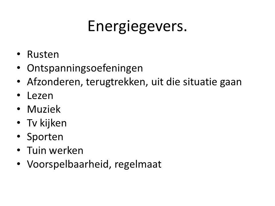 Energiegevers. Rusten Ontspanningsoefeningen