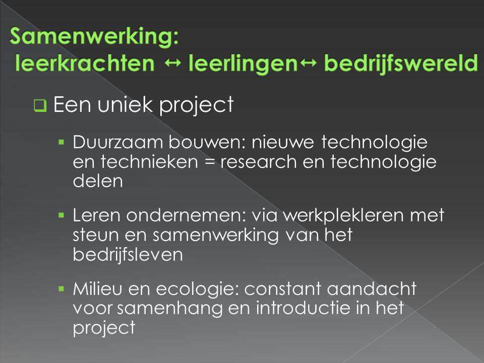 Samenwerking: leerkrachten  leerlingen bedrijfswereld