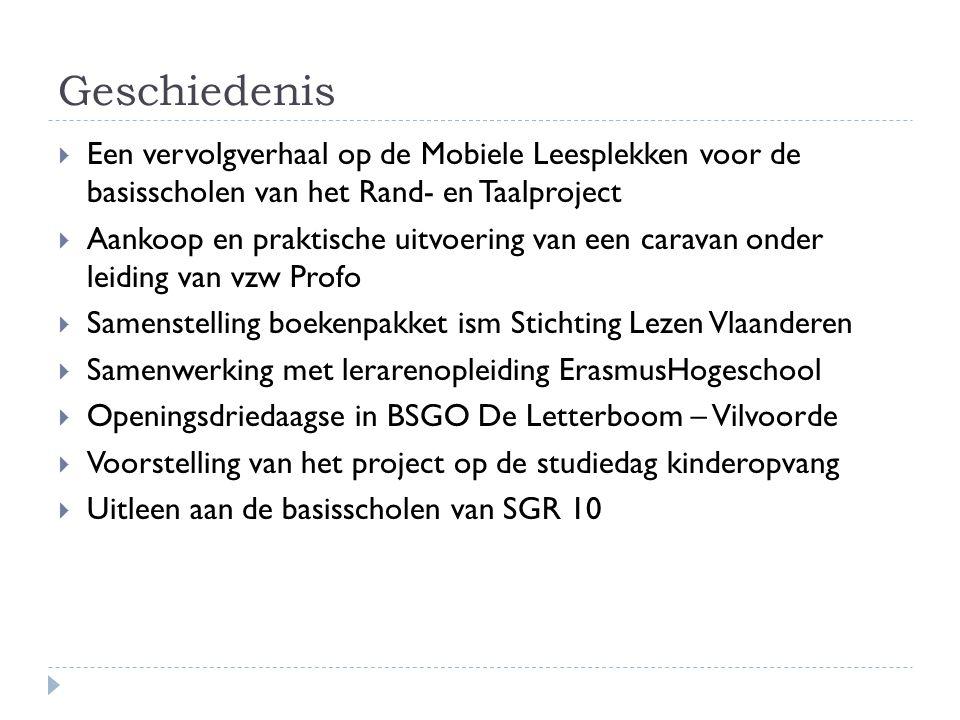Geschiedenis Een vervolgverhaal op de Mobiele Leesplekken voor de basisscholen van het Rand- en Taalproject.