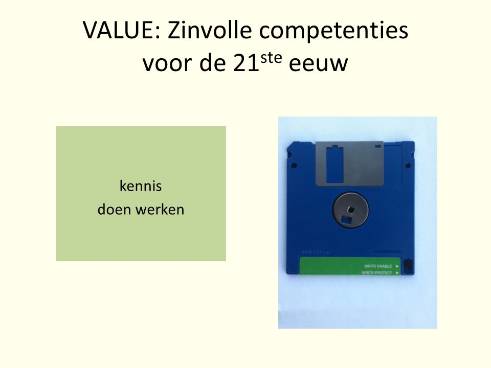 VALUE: Zinvolle competenties voor de 21ste eeuw
