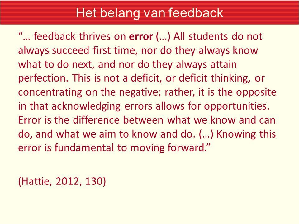 Het belang van feedback