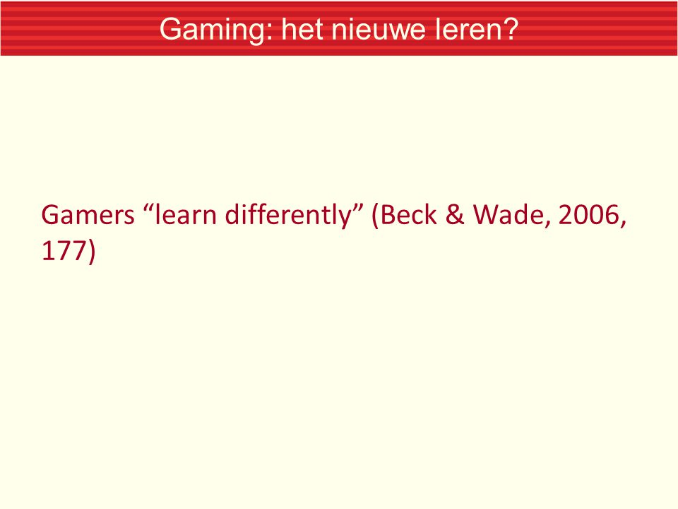 Gaming: het nieuwe leren