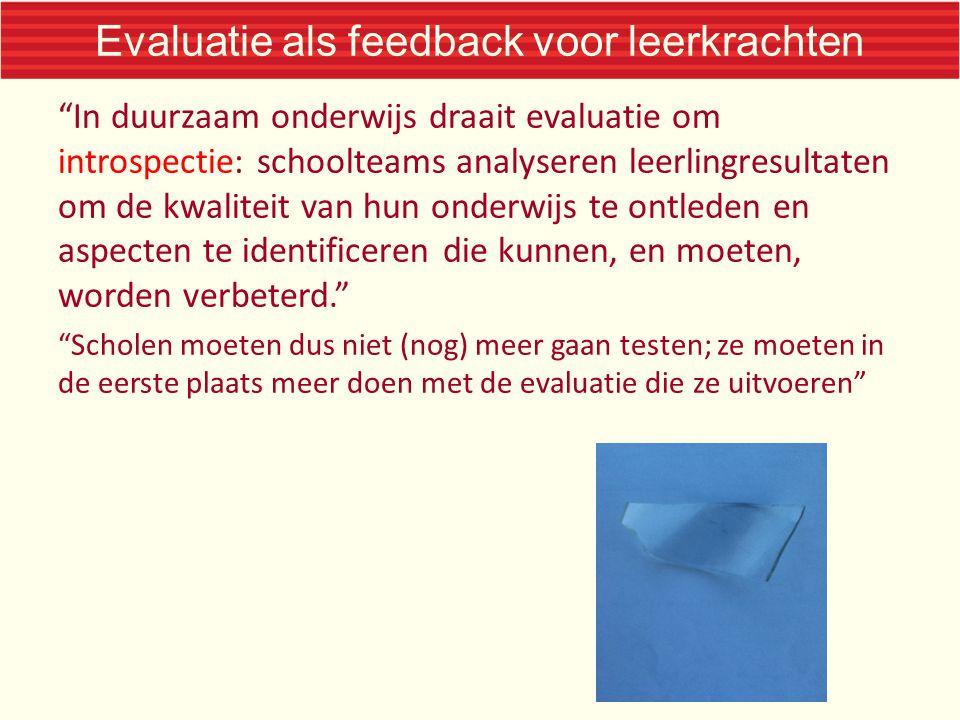 Evaluatie als feedback voor leerkrachten