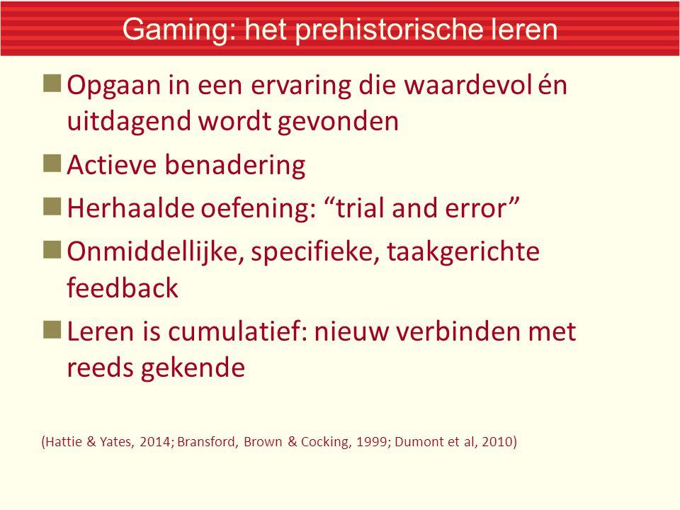 Gaming: het prehistorische leren