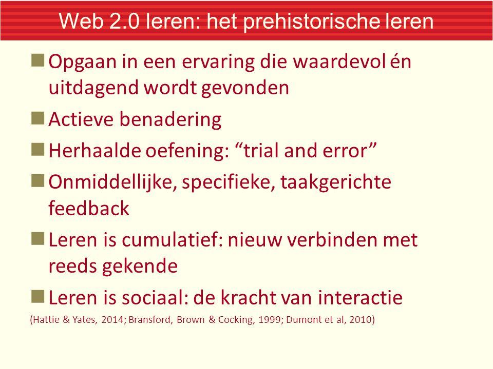 Web 2.0 leren: het prehistorische leren