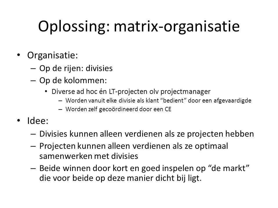 Oplossing: matrix-organisatie