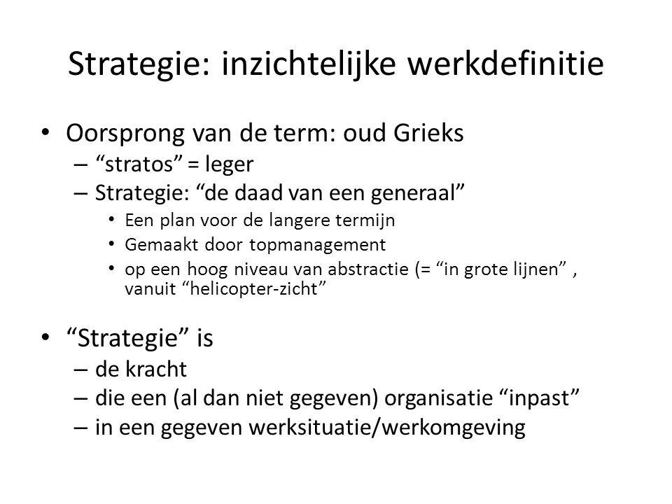 Strategie: inzichtelijke werkdefinitie