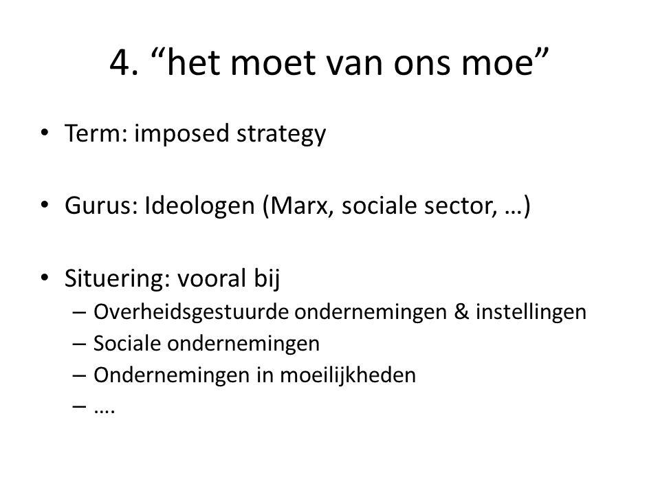 4. het moet van ons moe Term: imposed strategy
