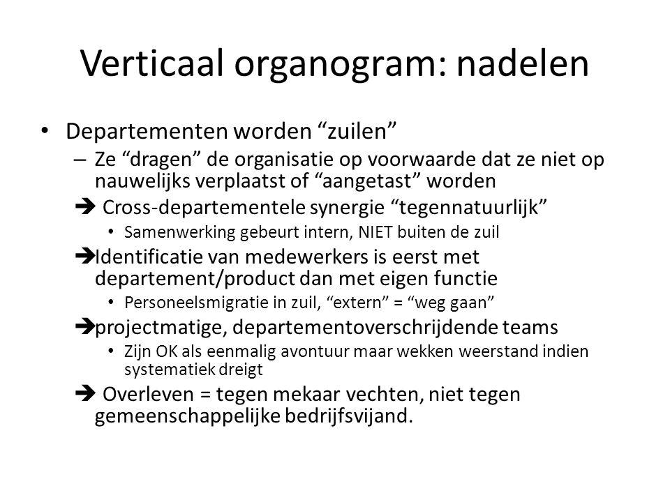Verticaal organogram: nadelen