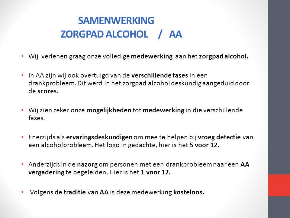 SAMENWERKING ZORGPAD ALCOHOL / AA