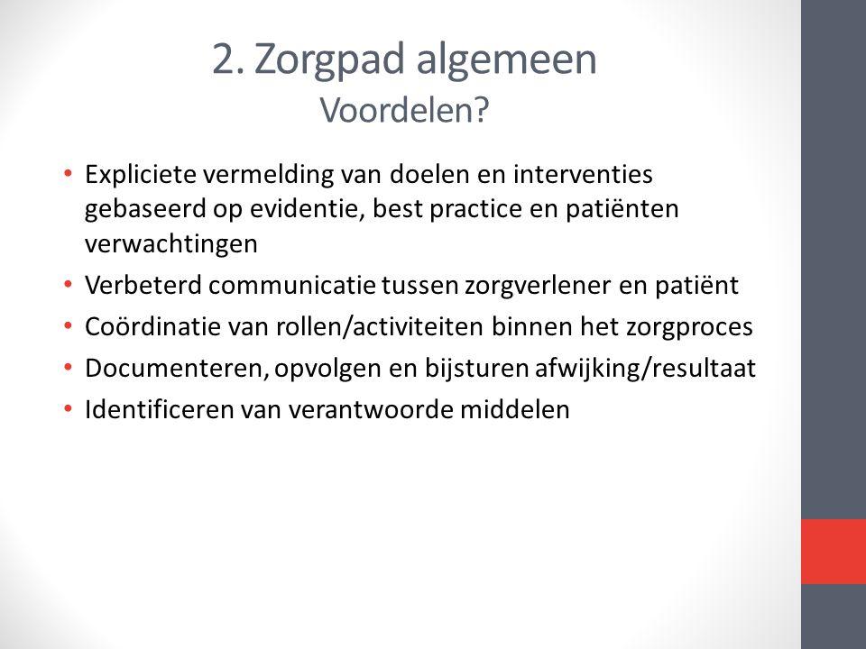 2. Zorgpad algemeen Voordelen