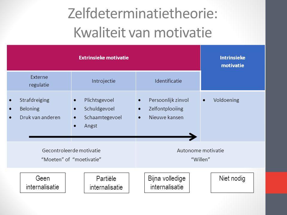 Zelfdeterminatietheorie: Kwaliteit van motivatie