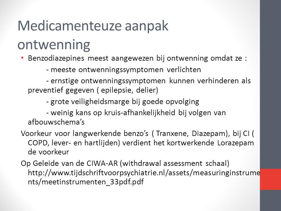 Medicamenteuze aanpak ontwenning