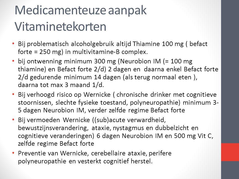 Medicamenteuze aanpak Vitaminetekorten