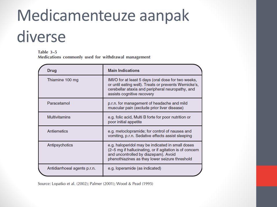 Medicamenteuze aanpak diverse