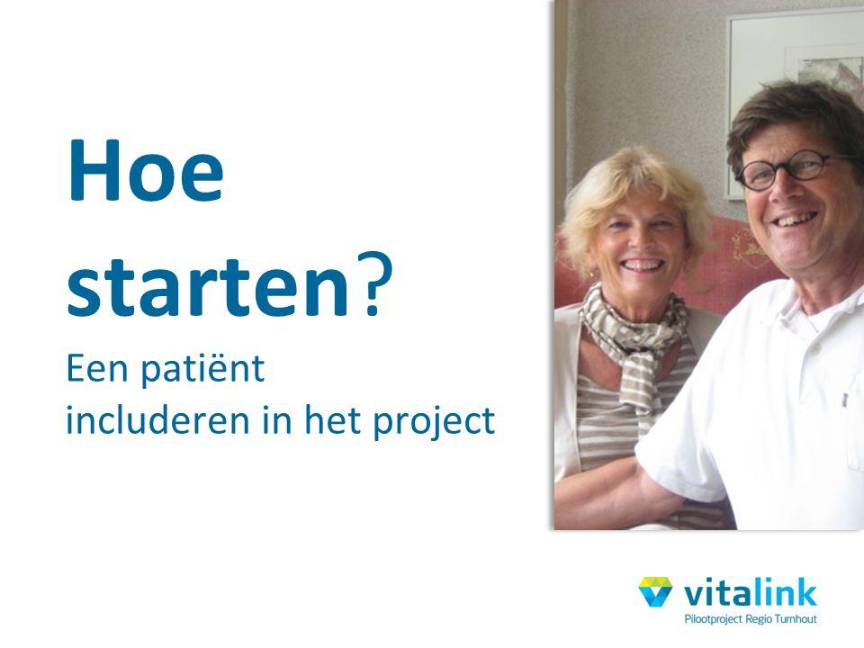 Hoe starten Een patiënt includeren in het project