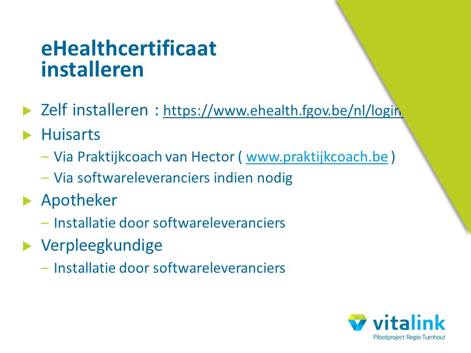 eHealthcertificaat installeren