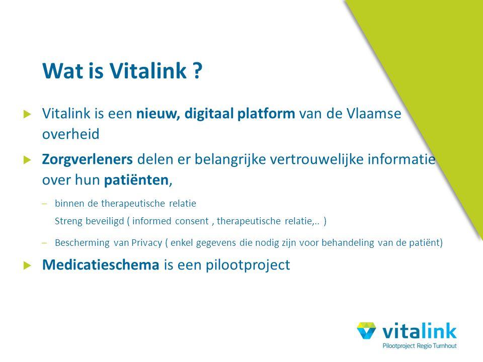 Wat is Vitalink Vitalink is een nieuw, digitaal platform van de Vlaamse overheid.
