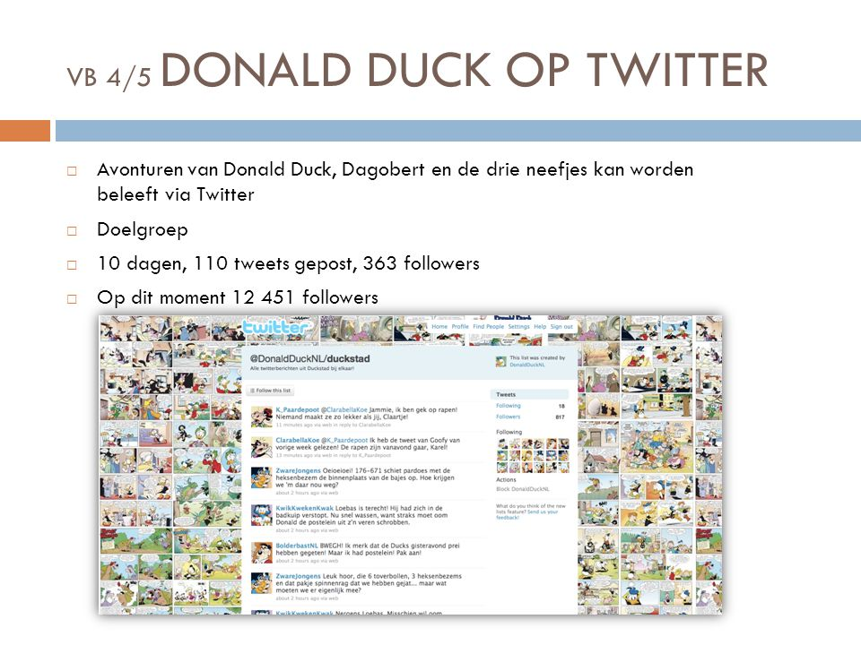 VB 4/5 DONALD DUCK OP TWITTER