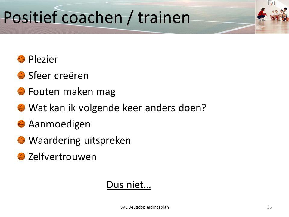 Positief coachen / trainen