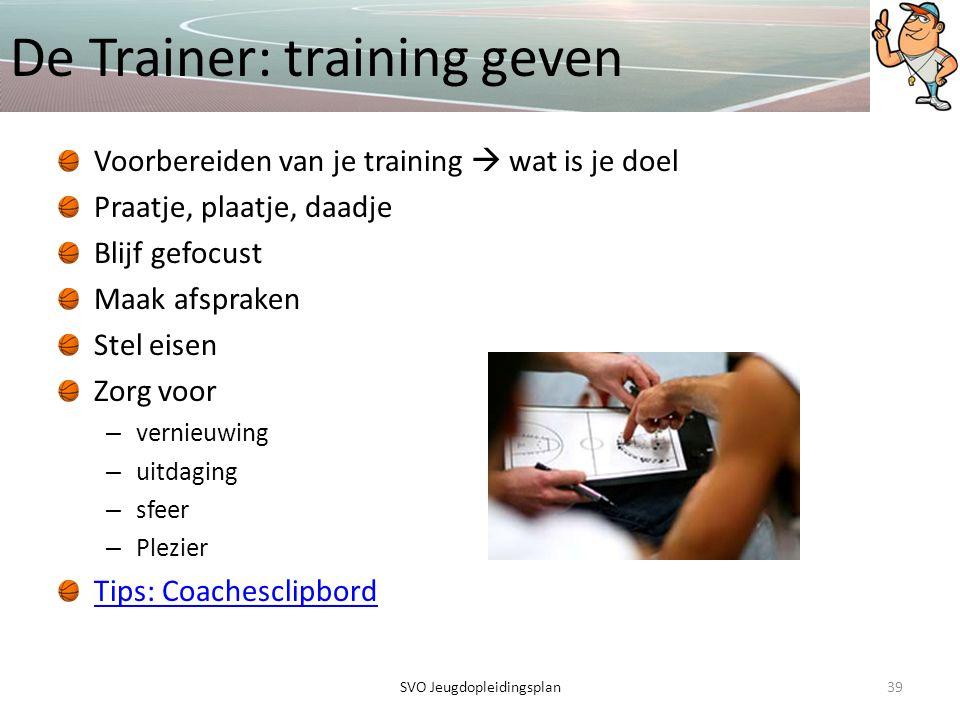 De Trainer: training geven