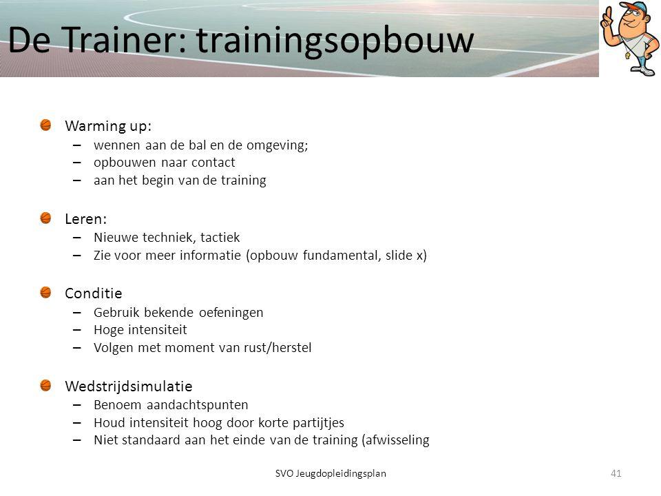 De Trainer: trainingsopbouw