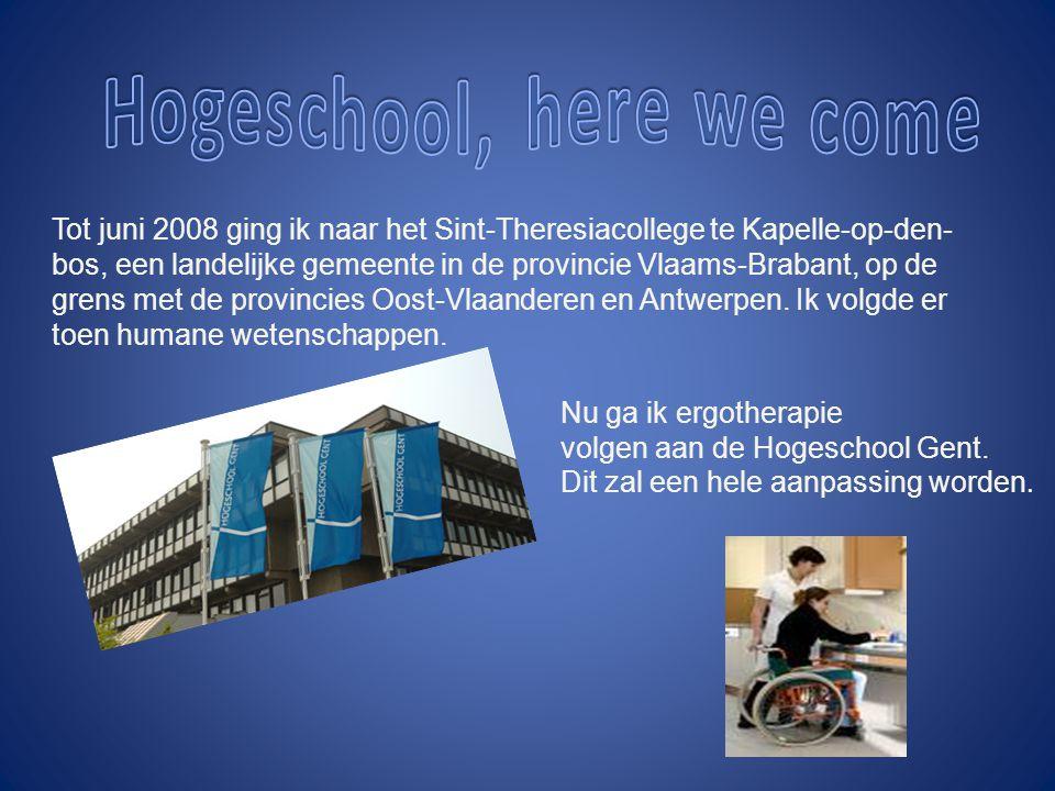 Nu ga ik ergotherapie volgen aan de Hogeschool Gent.