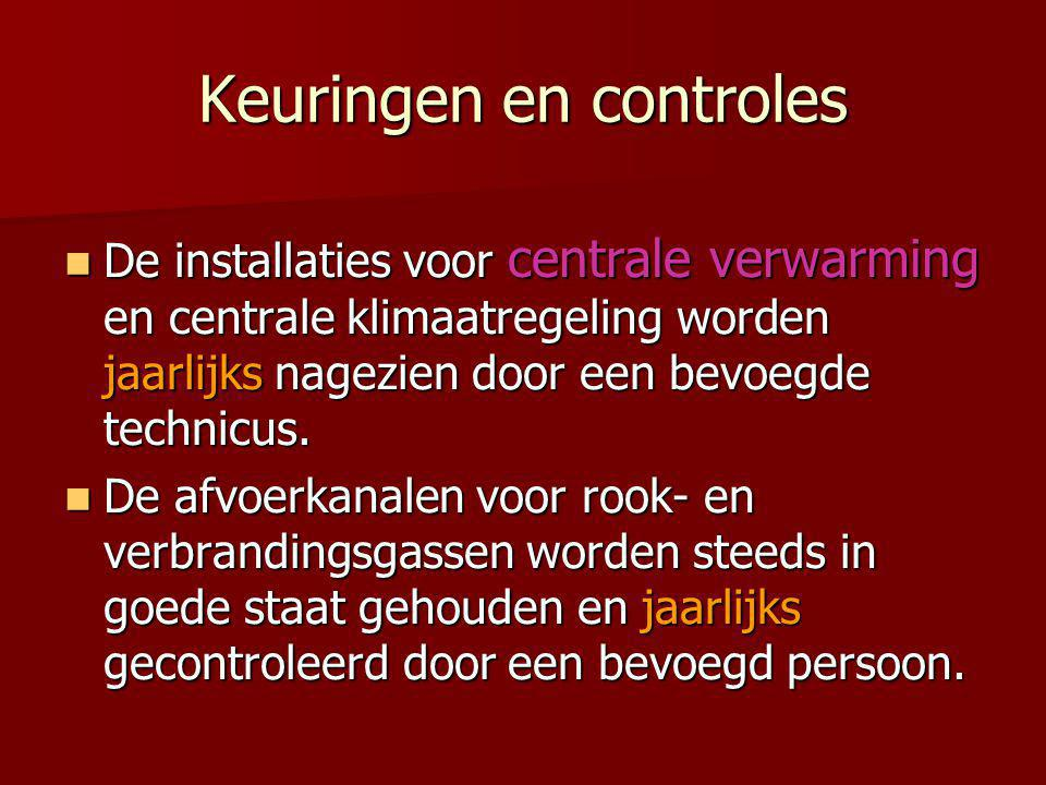 Keuringen en controles