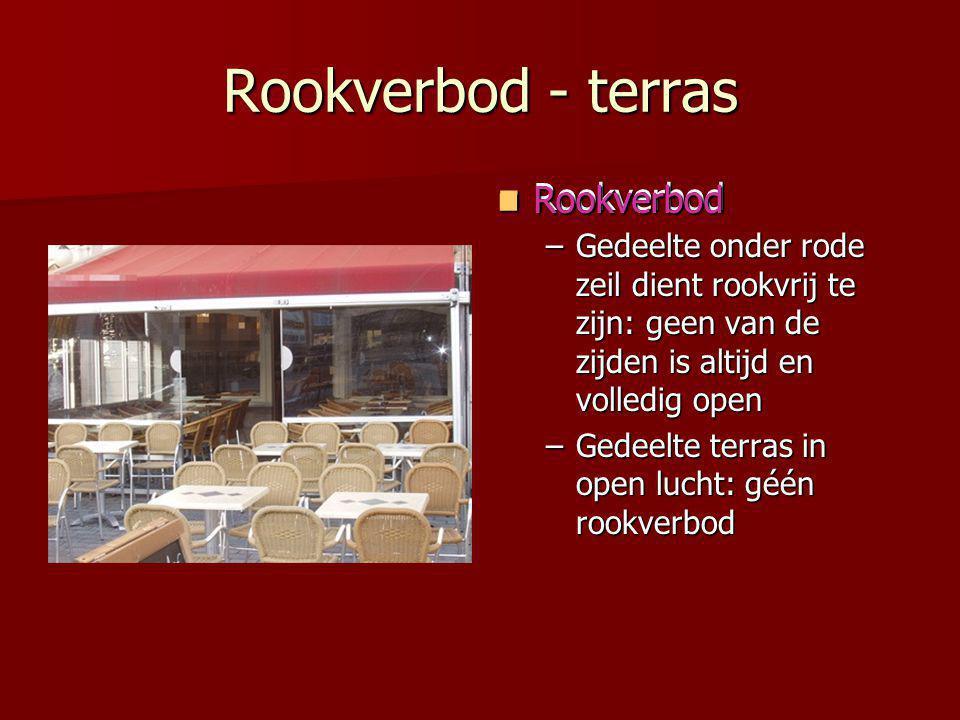 Rookverbod - terras Rookverbod Rookverbod