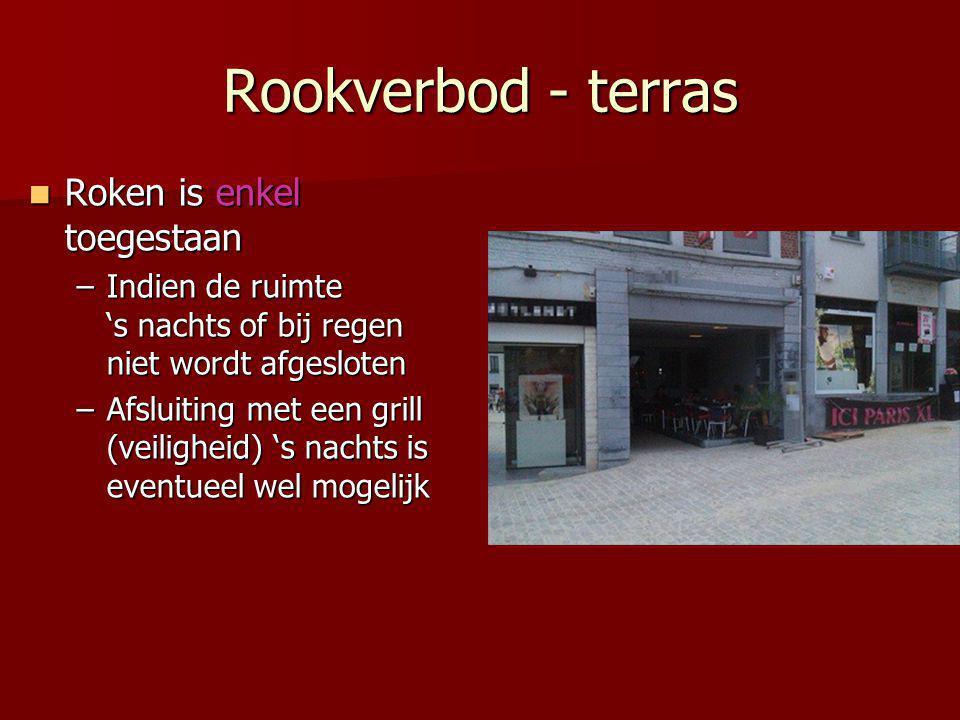 Rookverbod - terras Roken is enkel toegestaan