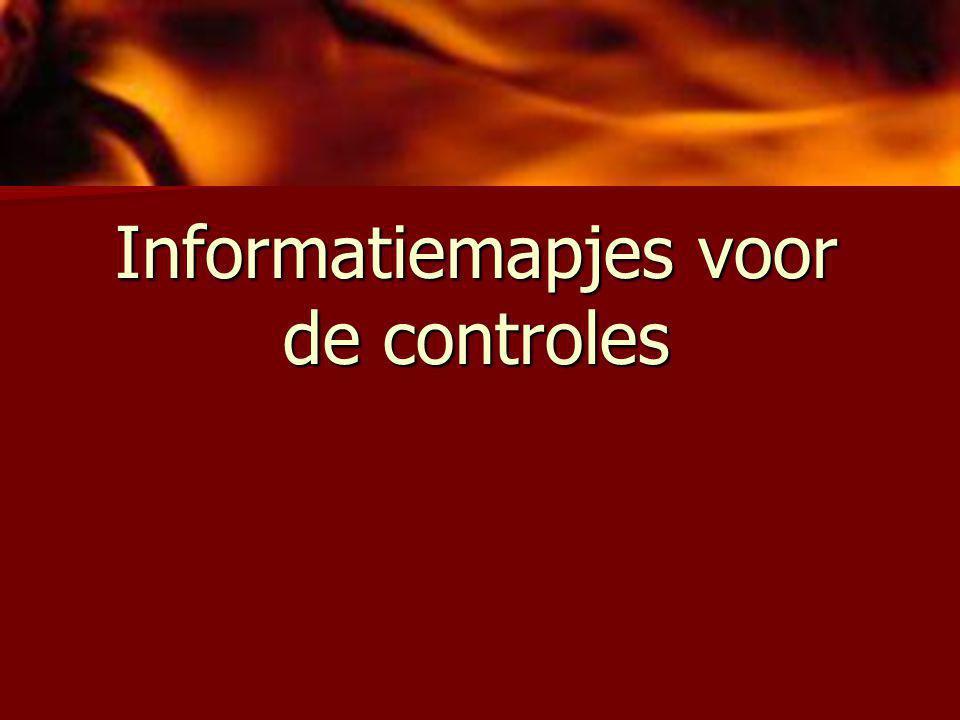 Informatiemapjes voor de controles