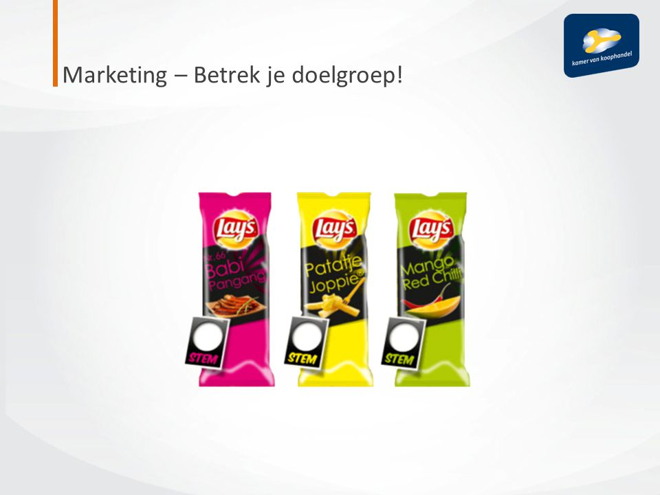 Marketing – Betrek je doelgroep!