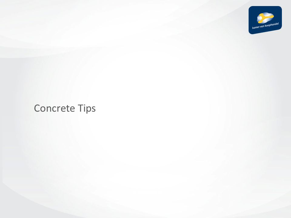 Concrete Tips