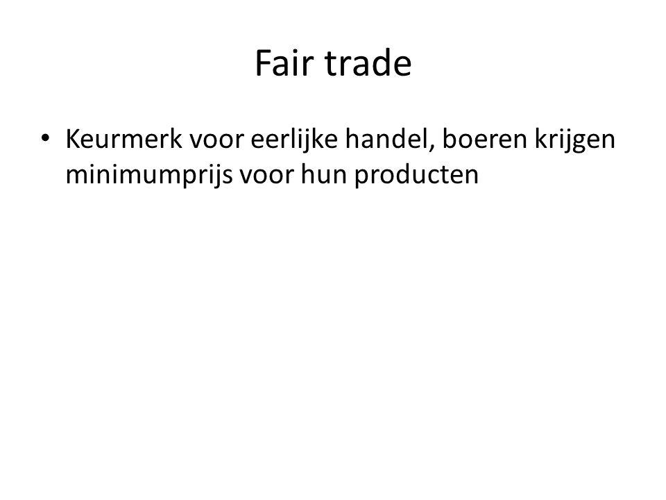 Fair trade Keurmerk voor eerlijke handel, boeren krijgen minimumprijs voor hun producten