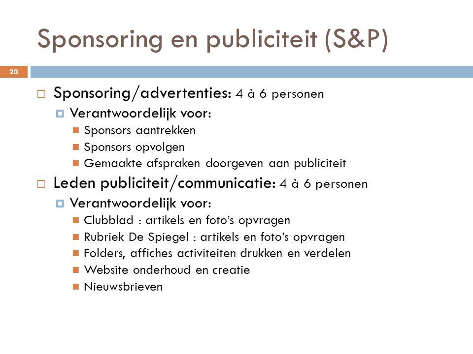 Sponsoring en publiciteit (S&P)