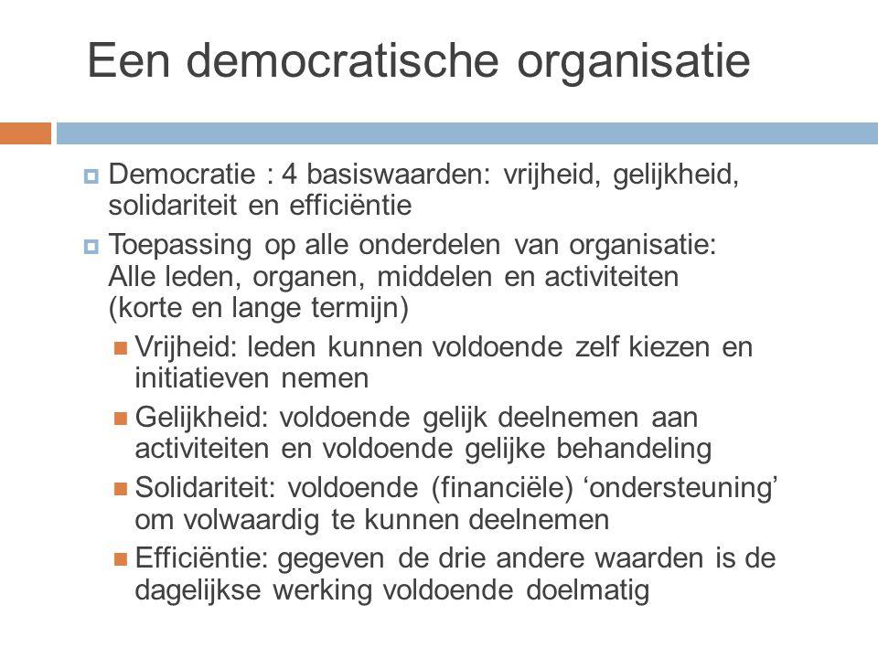 Een democratische organisatie