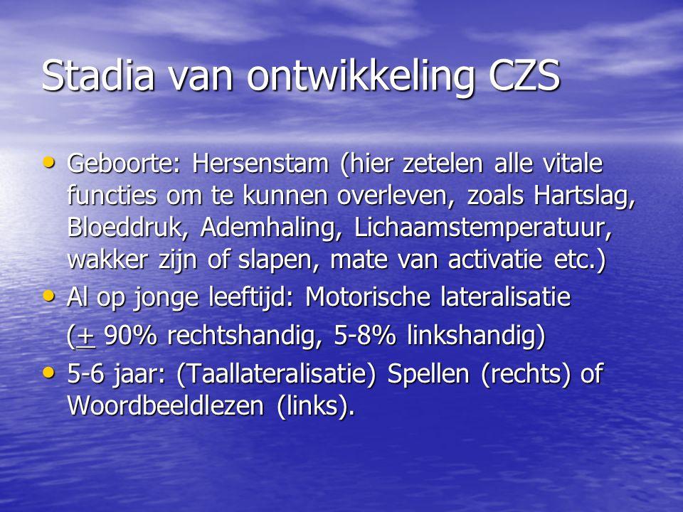 Stadia van ontwikkeling CZS