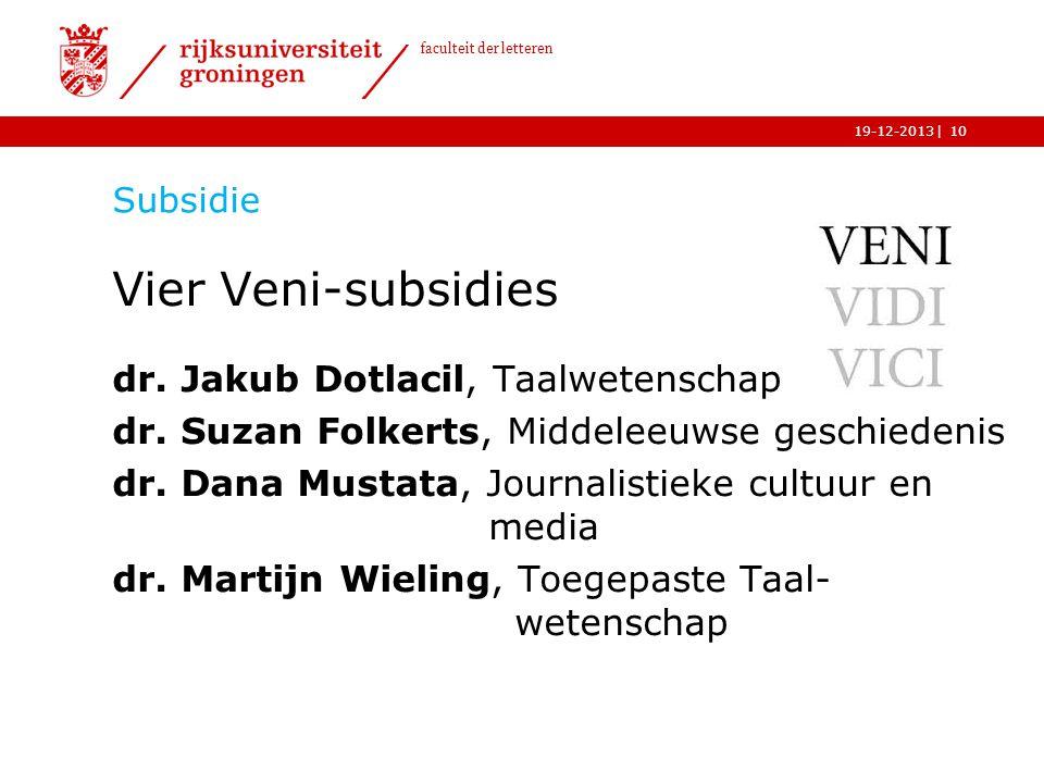 Vier Veni-subsidies dr. Jakub Dotlacil, Taalwetenschap