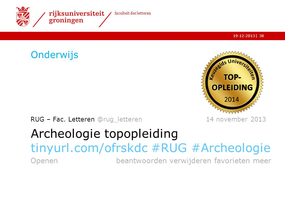 Archeologie topopleiding tinyurl.com/ofrskdc #RUG #Archeologie