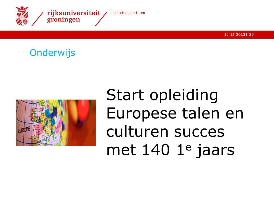 Start opleiding Europese talen en culturen succes met 140 1e jaars