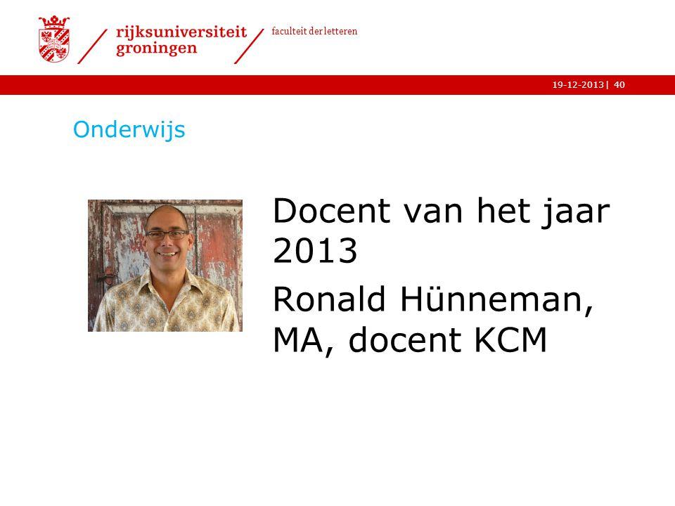 Ronald Hünneman, MA, docent KCM