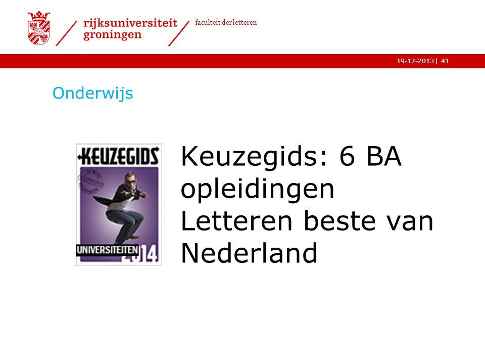 Keuzegids: 6 BA opleidingen Letteren beste van Nederland