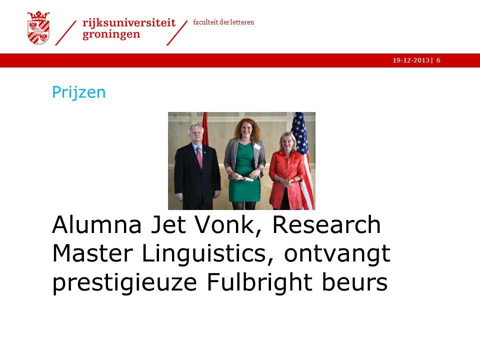 Prijzen Alumna Jet Vonk, Research Master Linguistics, ontvangt prestigieuze Fulbright beurs