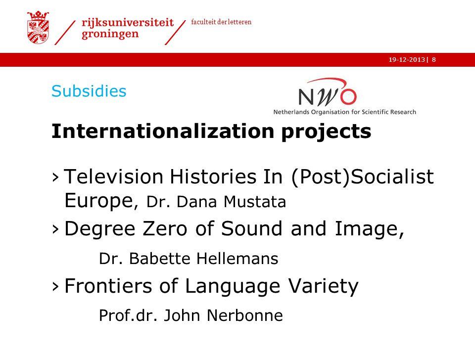 Internationalization projects