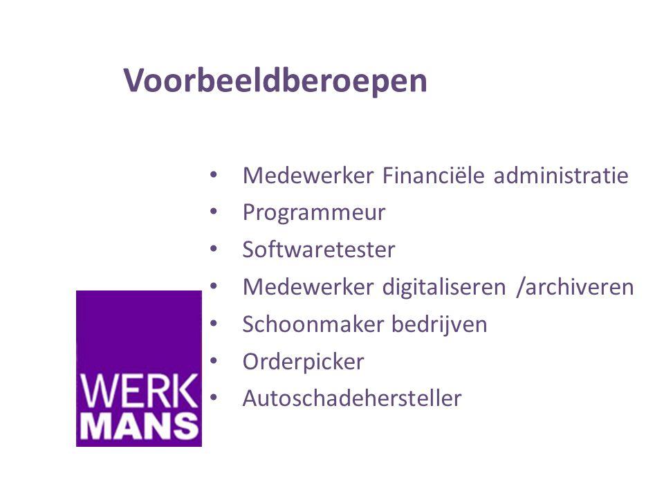 Voorbeeldberoepen Medewerker Financiële administratie Programmeur
