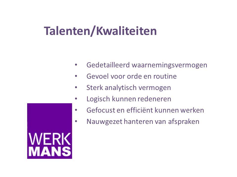 Talenten/Kwaliteiten